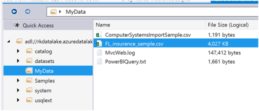 Azure Data Lake Analytics- Populating - Querying Tables-1