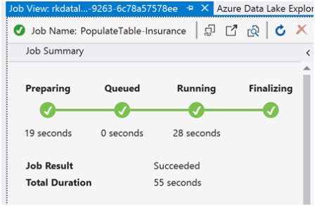 Azure Data Lake Analytics- Populating - Querying Tables-2