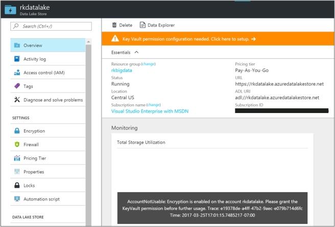 Creating Azure Data Lake 3