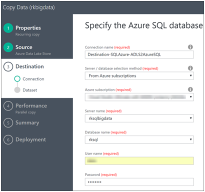 Azure Data Factory- Copy Data from Azure Data Lake Store to Azure SQL-10