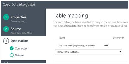 Azure Data Factory- Copy Data from Azure Data Lake Store to Azure SQL-11
