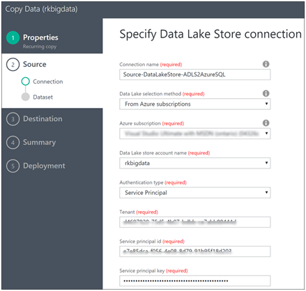 Azure Data Factory- Copy Data from Azure Data Lake Store to Azure SQL-6