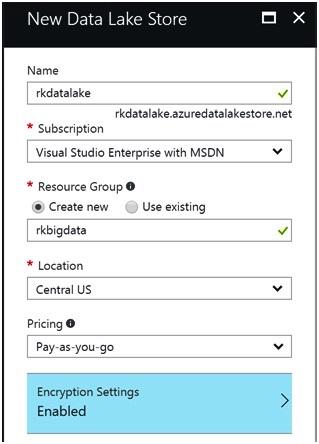 Creating Azure Data Lake 1