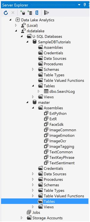 Azure Data Lake Analytics- Database and Tables-3