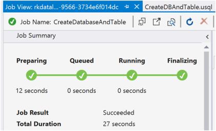 Azure Data Lake Analytics- Database and Tables-6