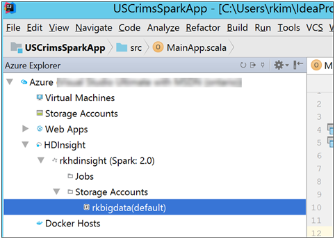 Building a Spark Application for HDInsight using IntelliJ Part 1 of 2-7