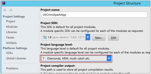 Building a Spark Application for HDInsight using IntelliJ Part 1 of 2-9