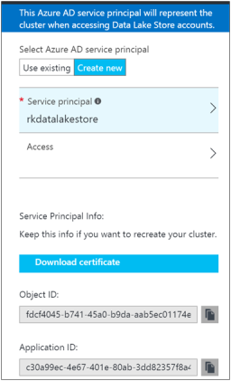 Create HDInsight Spark Cluster with Azure Data Lake Store-7