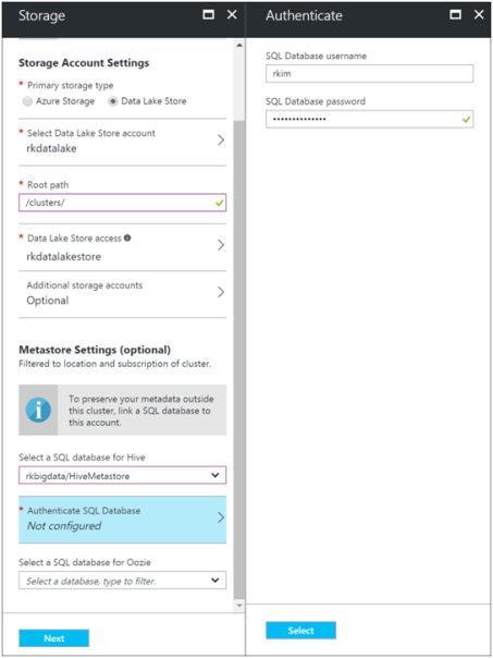 Create HDInsight Spark Cluster with Azure Data Lake Store-8