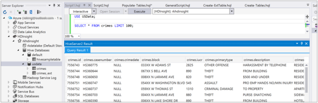 Populating Data into Hive Tables in HDInsight-3