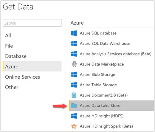 Power BI reports with Azure Data Lake Store-7