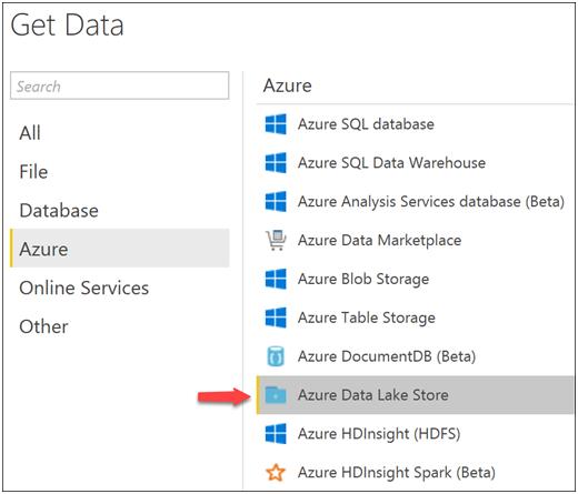 Power BI reports with Azure Data Lake Store-7