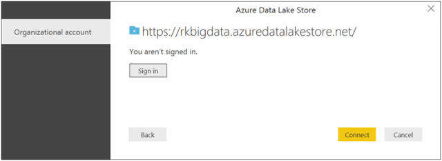 Power BI reports with Azure Data Lake Store-9